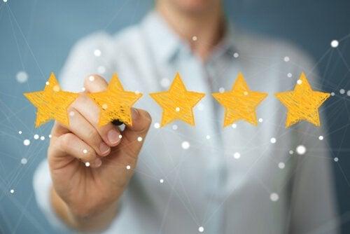 Golden stars are tokens for good behavior.
