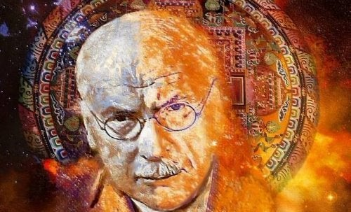 A picture of Carl Jung in flames.