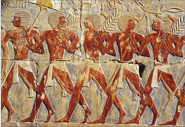 A representation of Egyptian infantry.
