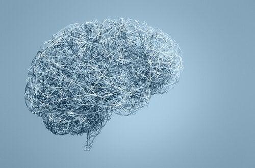 A brain in blue background representing neurosexism.