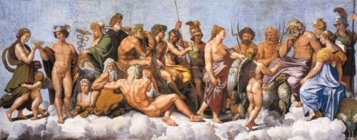 The Gods of Olympus in Greek mythology.