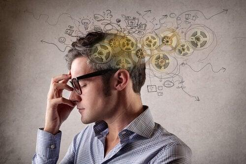 A man applying creative visualization.
