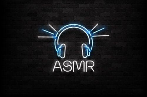 ASMR in neon lights.