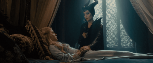 scene with Maleficent and Princess Aurora