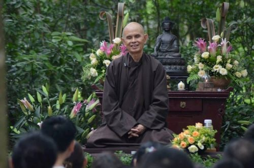 Thich Nhat Hanh smiling.