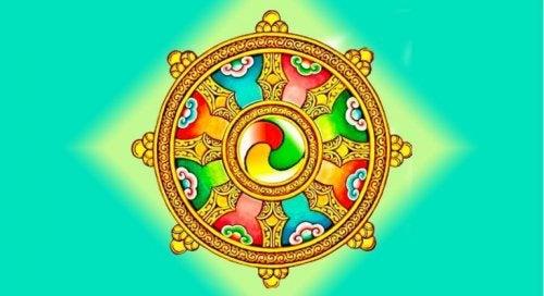 wheel symbolizing dharma