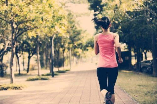 woman running and exercising