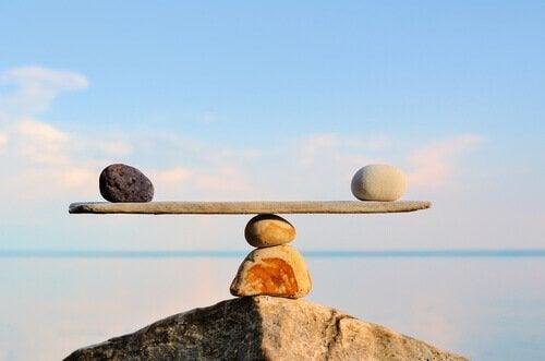 A rock balance.