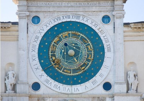 The astronomical clock in Padua.