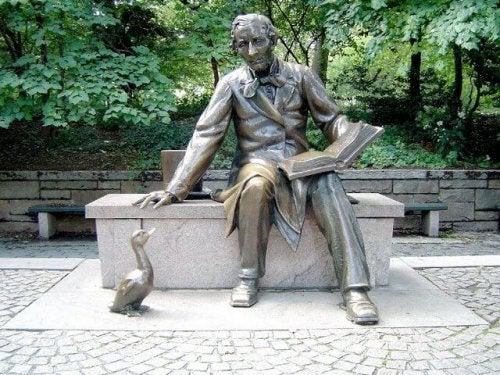 A Hans Christian Andersen statue.