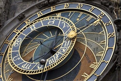 The old city clock of Prague.