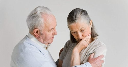 An old man and her wife with Lewy body dementia.