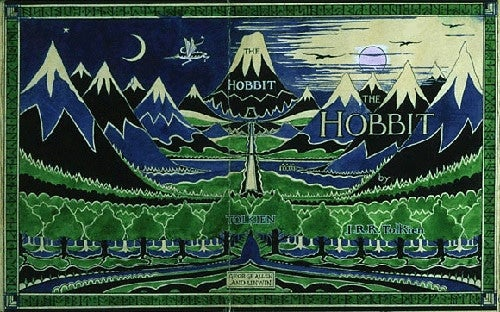 Original book cover for The Hobbit.