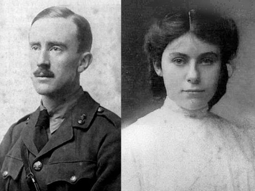 Author J.R.R. Tolkien and his wife Edith.