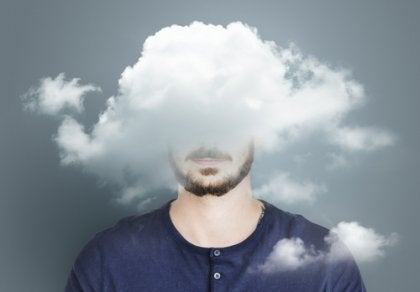 A man with his head in the clouds.