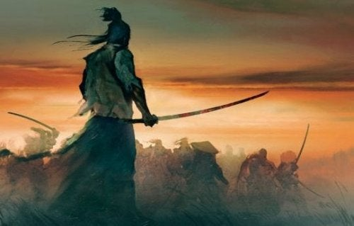Samurai warrior Bokuden.