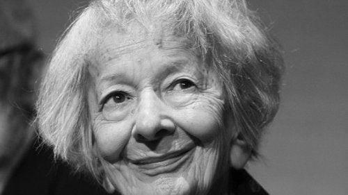 Wisława Szymborska smiling.