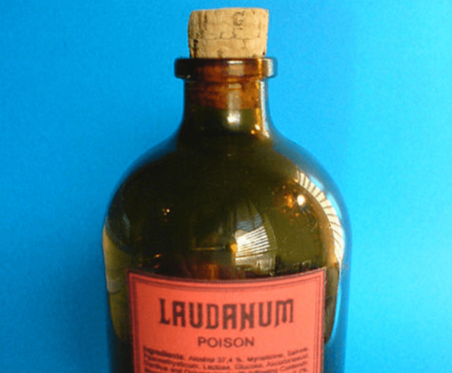 A bottle of laudanum.
