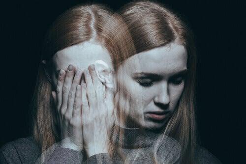A woman experiencing delirium.