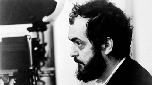 Stanley Kubrick at work.