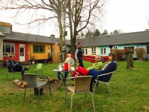 A cohousing community.