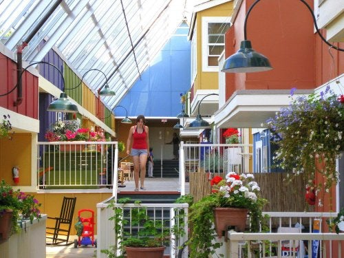 A cohousing community in Canada.
