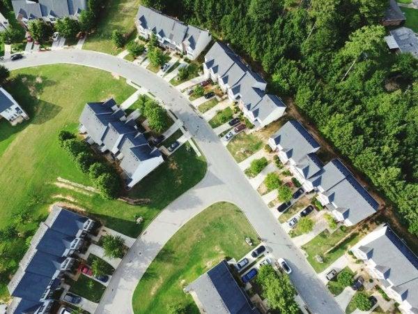 A Danish cohousing community.