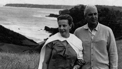 Severo Ochoa with his wife Carmen.
