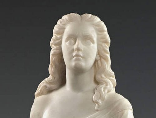 A sculpture by Edmonia Lewis.