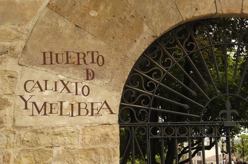 The door to the orchard of Calisto and Melibea.