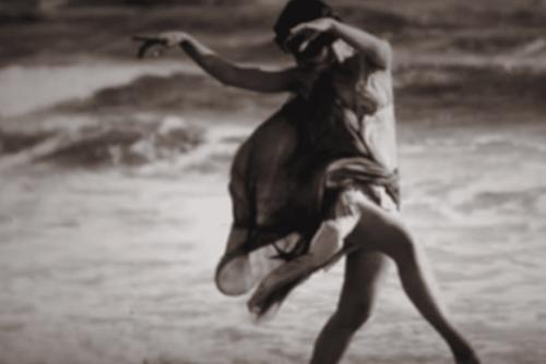 Isadora Duncan dancing.