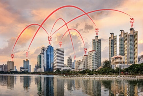 A city full of 5G networks.