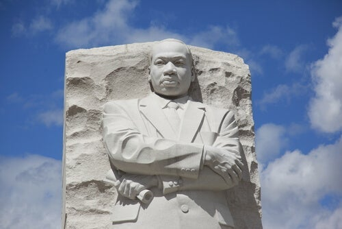 A bust of Martin Luther King Jr.