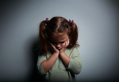A sad girl.