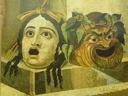 Some Greek theatrical masks.