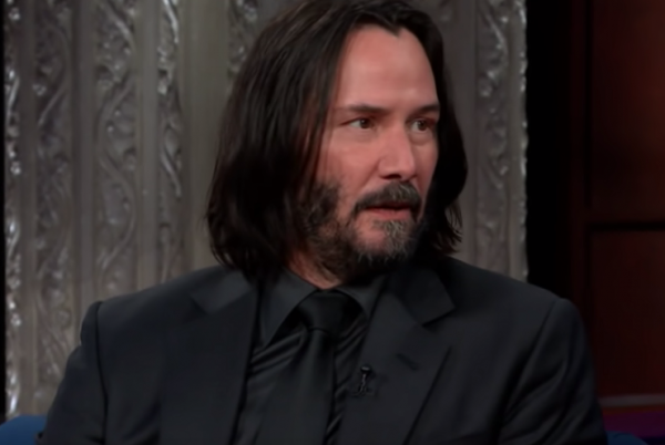 Keanu Reeves at an interview.