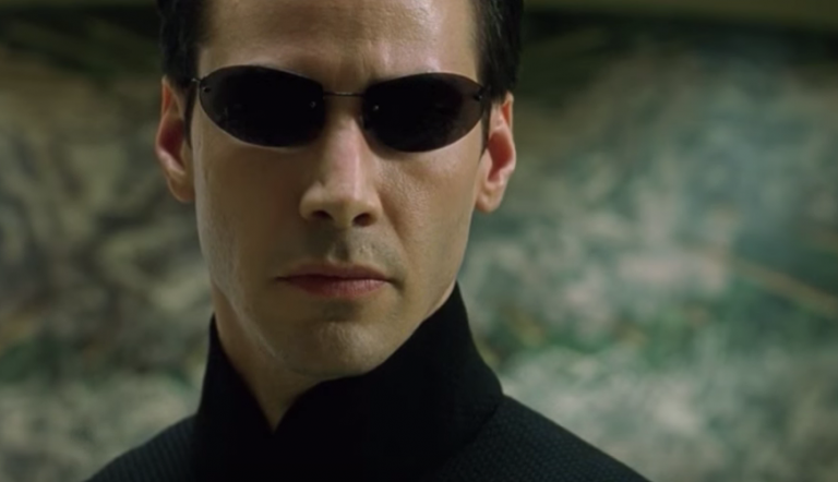 Keanu Reeves in The Matrix.