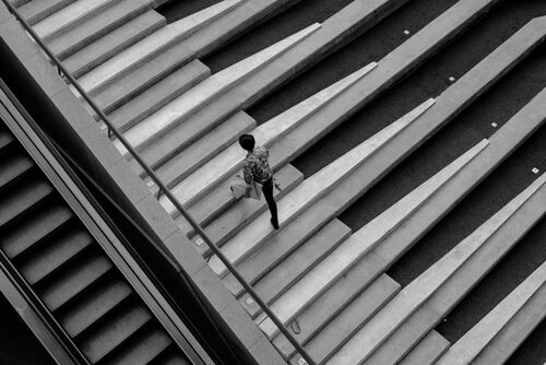 The fun theory shown in a picture of someone climbing the piano stairs.