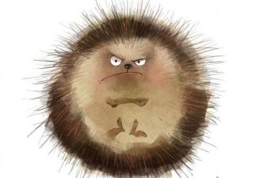 An angry hedgehog following the three-hour rule.