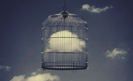 A cloud in a cage.