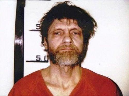 A Ted Kaczynski mugshot for sale as murderabilia.