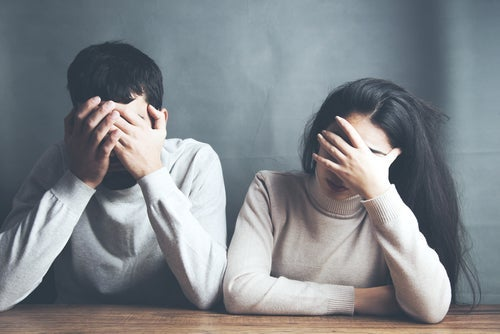 An angry couple.