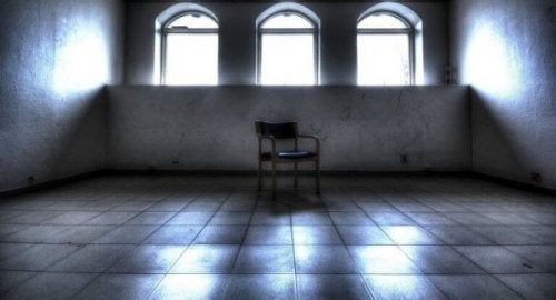 A room in a psychiatric hospital.