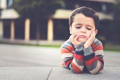 A seemingly bored child.