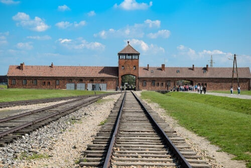 A picture of Auschwitz.