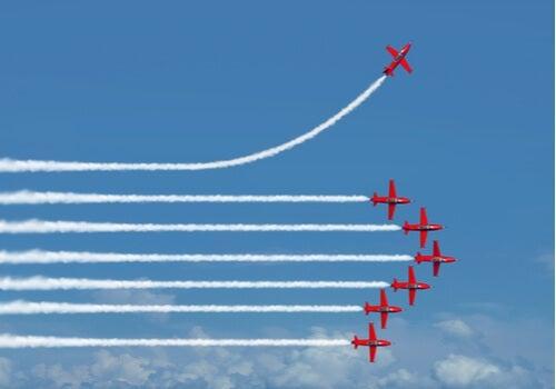 An airplane show.