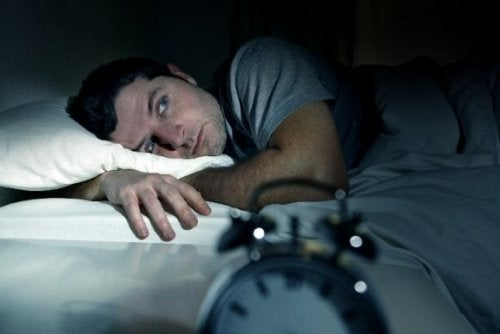 An man who can't sleep.