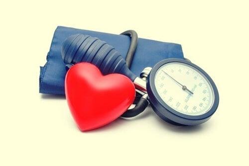 A blood pressure cuff.