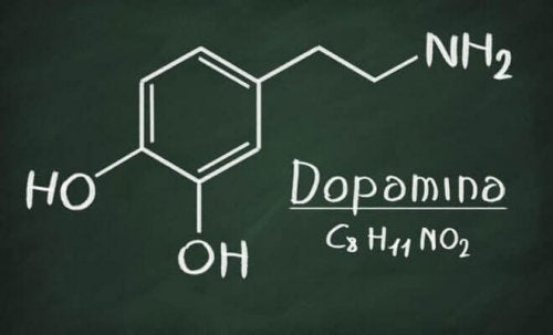 The chemical structure of dopamine.
