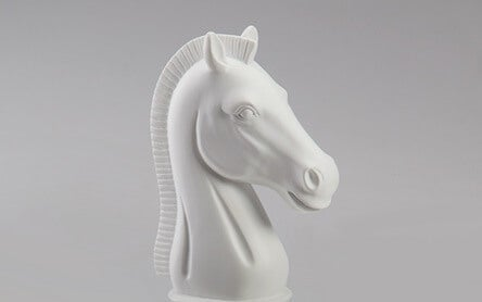 A white horse that symbolizes a white knight, typical of the fixer mentality.